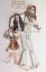 'yoko & john'  couple de marionnettes sur papier