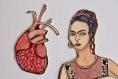 Frida & coeur - marionnette sur papier