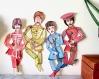 'les 4 de liverpool' 4 marionnettes - pièces originales