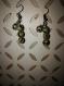 Boucle d'oreille en pierre naturelle de jaspe dalmatien