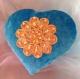 Boite à bijoux: coeur en velours