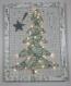 Décoration noël, arbre de noël , collage, ficelle,papier musique, allumé, cadeau, noël, décoration, décoration murale, unique.