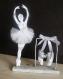 Danseuse étoile en papier, tulle et perles