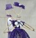 Couple de mariés en ficelle et dentelle, mariage de ficelle et dentelle, décoration gâteau de mariés.