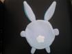 Doudou lapin bleu tout doux pour petit garçon