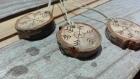 Rondelles bois pyrogravure flocons