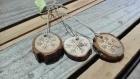 Rondelles bois pyrogravure petits flocons