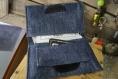Etuit cigarette en jean