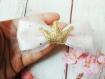 Barette noeud fait main