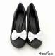 Clips chaussure noeud blanc nacré