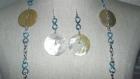Collier sautoir avec boucles d'oreilles pendantes
