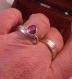 Bague double anneau amethyste