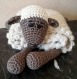 Couverture doudou en laine d'alpaga amigurumi doudou naissance