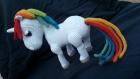 Licorne arc en ciel  coton oeko-tex fait main crochet