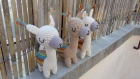 Cuzco le lama doudou coton oeko-tex crochet fait main