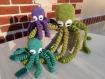 Pieuvre naissance doudou  coton oeko-tex crochet fait main octopus poulpe