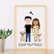 Portrait de famille personnalisé basé sur vos photos, cadeau pour la fête des mères
