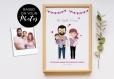 Invitation personnalisée pour baby shower ou annonce de grossesse. portrait de famille personnalisé
