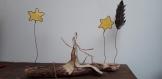 Bois flotté et papier kraft armé : partage étoilé