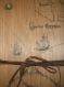 Carnet couverture bois avec illustration mappemonde