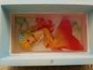 Coffret 12x7x8 cm peint à la main avec mermaid trixie en pâte fimo recouverte de résine