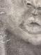 Tableau peinture portrait enfant toile originale 46 x 33 cm