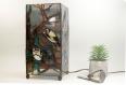 Lampe à poser d'inspiration japonaise, création unique pour votre décoration style asiatique, zen ou feng-shui réalisé en vitrail tiffany.
