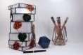Luminaire d'inspiration japonaise, création unique pour votre décoration style asiatique, zen ou feng-shui réalisé en vitrail tiffany