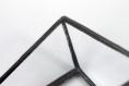 Distributeur de cartes de visite (verre transparent, soudure noire). design minimaliste pour déco d'intérieur graphique, industrielle...