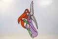 Fée mobile en vitrail tiffany pour veiller sur le sommeil de bébé ou des plus grand(e)s