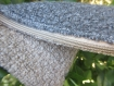 Petite pochette bicolore style lainage