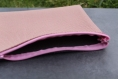 Pochette bicolore rose/bleu
