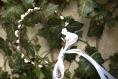 Couronne de fleurs cheveux rustique blanche