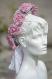 Couronne de fleurs cheveux en mousse rose