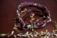 Couronne de fleurs cheveux et baguette magique