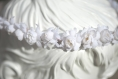 Couronne de fleurs cheveux pour mariée