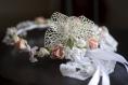 Couronne de fleurs cheveux pour mariée ou cérémonie