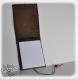 Ca&rnet en cuir, carnet amovible et rechargeable, pochette pour carnet a7, daim souple, fleurs en cuir