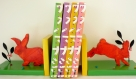 Serre-livres « lapins  » moderne,  en pin des landes bois massif