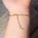 Bracelet vert en perle de miyuki avec chainette dorée