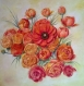 Renoncules-peinture florale à l'huile