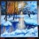 Paysage acrylique peinture