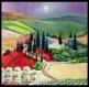 Toscane lumineuse huile sur toile 50 x 50