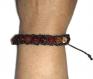 Bracelet macramé en pierre de cornaline orange