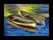 Barques huile sur toile- strasser nicole