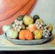 Fruits en corbeille huile sur toile