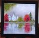 Paysage acrylique sur toile