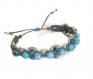 Bracelet brésilien pierre naturelle  hemimorphite bleue translucide
