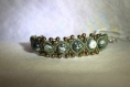 Bracelet  agate verte mousse en macramé / pierre naturelle