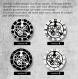 Horloge murale en vinyle 33 tours fait-main / thème astérix et obélix, déssins animés, goscinny